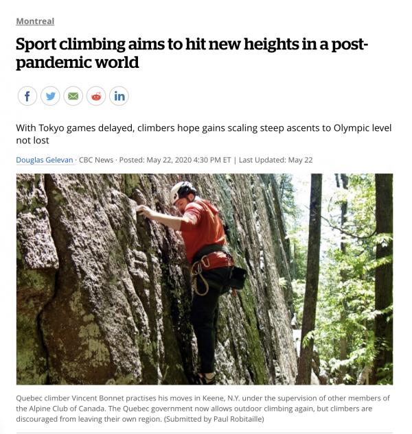 Le Club Alpin de Montréal: ça jase dans les médias!